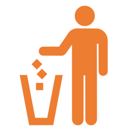 icon representing litter clean up